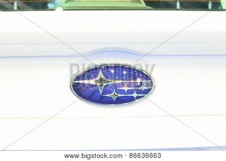 Bangkok - March 26 : Logo Of Subaru Wrx On Display At 36Th Bangkok International Motor Show On March