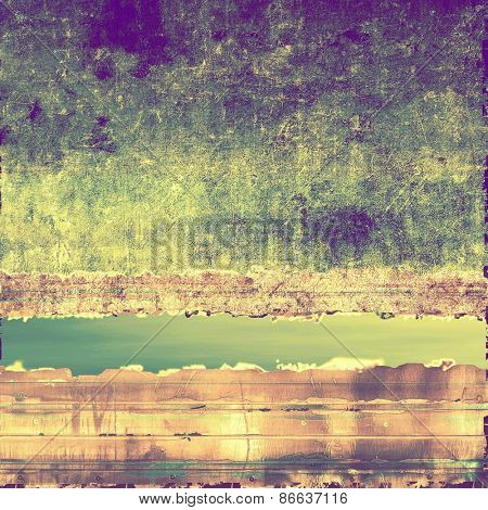 Old grunge textured background. With different color patterns: yellow (beige); brown; green; purple (violet)