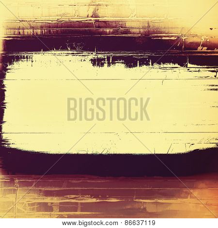 Grunge texture, distressed background. With different color patterns: yellow (beige); brown; purple (violet)