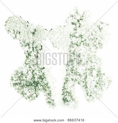 Abstract green, gray watercolor background for your design insul