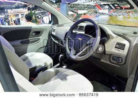 Bangkok - March 26 : Interior Design Of Passenger Room Of Chevrolet Spin, Mini Mpv, On Display At 36