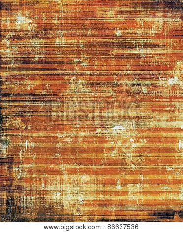 Grunge texture with decorative elements and different color patterns: yellow (beige); brown; red (orange)
