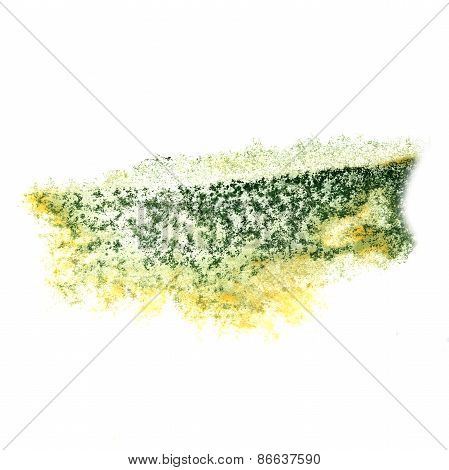 Abstract green,yellow watercolor background for your design insu