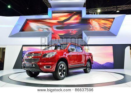 Bangkok - March 26 : New Chevrolet Colorado High Country, 4Wd Pick Up Truck, On Display At 36Th Bang