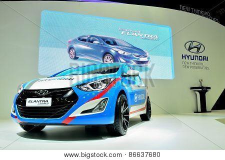 Bangkok - March 26 : Hyundai Elantra Sport Edition On Display At 36Th Bangkok International Motor Sh