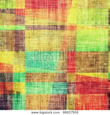 Grunge colorful background or old texture for creative design work. With different color patterns: yellow (beige); green; blue; red (orange)