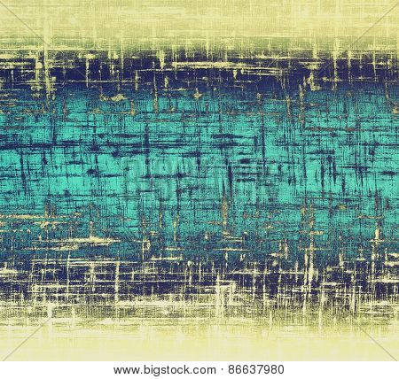 Old grunge background with delicate abstract texture and different color patterns: yellow (beige); gray; cyan; blue