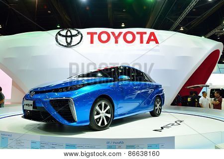 Bangkok - March 26 : Toyota Mirai, Hydrogen Engine Vehicle, On Display At 36Th Bangkok International