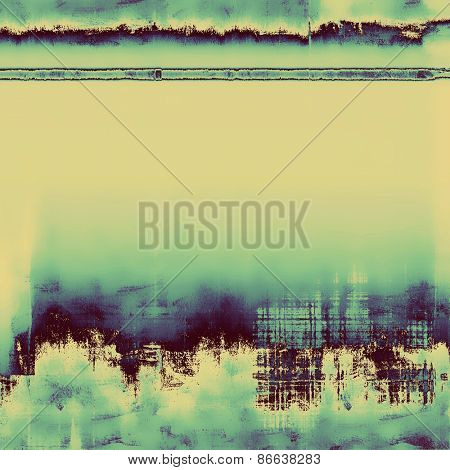Old designed texture as abstract grunge background. With different color patterns: yellow (beige); cyan; blue