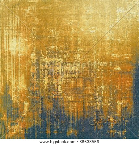 Old texture - ancient background with space for text. With different color patterns: yellow (beige); brown; blue