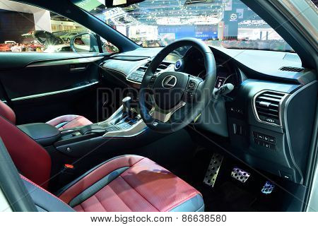 Bangkok - March 26 : Passender Room Design Of Lexus Nx 300H, Luxury Hybrid Suv Car, On Display At 36