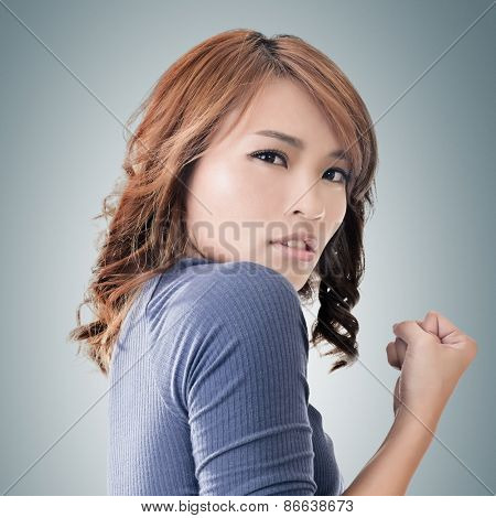 Asian woman portrait, concept of strong, power, confident etc.