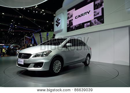 Bangkok - March 26 : Suzuki Ciaz, Compact Sedan Vehicle, On Display At 36Th Bangkok International Mo