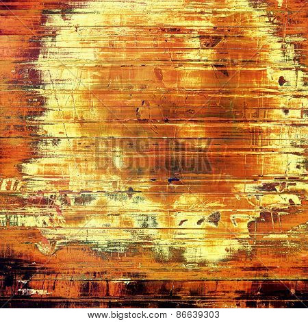 Abstract blank grunge background, old texture with stains and different color patterns: yellow (beige); brown