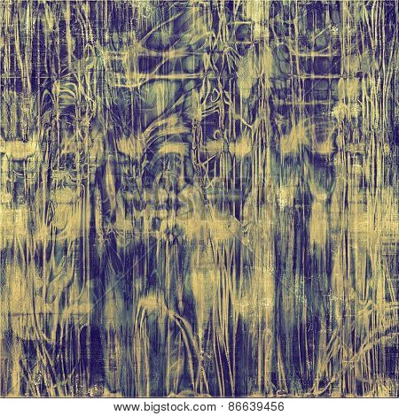 Grunge texture, distressed background. With different color patterns: yellow (beige); gray; blue