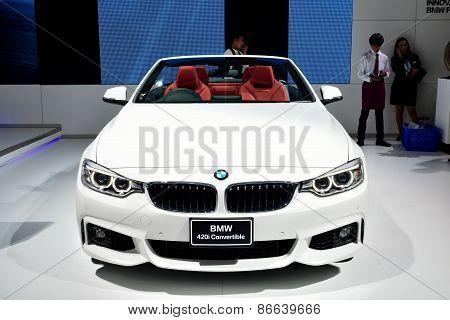 Bangkok - March 26 : Bmw 420I Convertible On Display At 36Th Bangkok International Motor Show On Mar