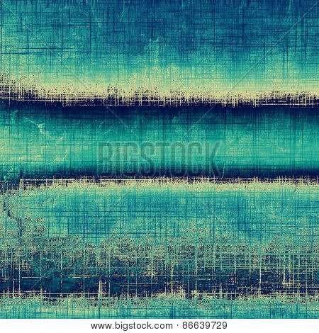 Textured old pattern as background. With different color patterns: gray; cyan; blue