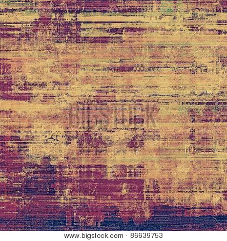 Grunge colorful background or old texture for creative design work. With different color patterns: yellow (beige); brown; purple (violet)