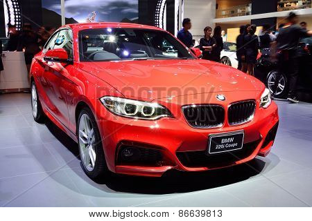 Bangkok - March 26 : Bmw 220I Coupe On Display At 36Th Bangkok International Motor Show On March 26,