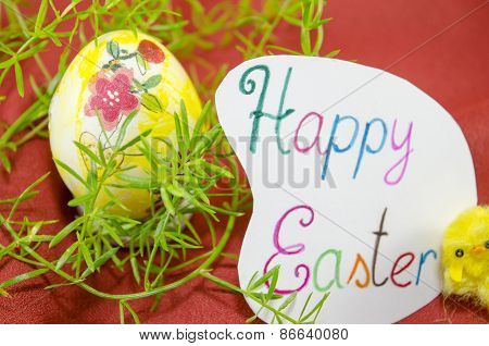 Hand Painted Decoupage Easter Egg
