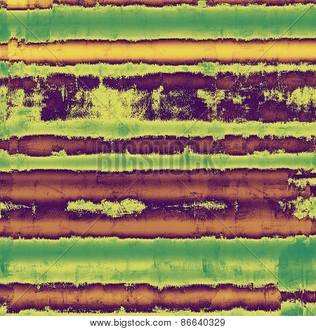 Grunge texture with decorative elements and different color patterns: brown; green; purple (violet)
