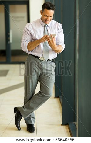 professional businessman using cell phone