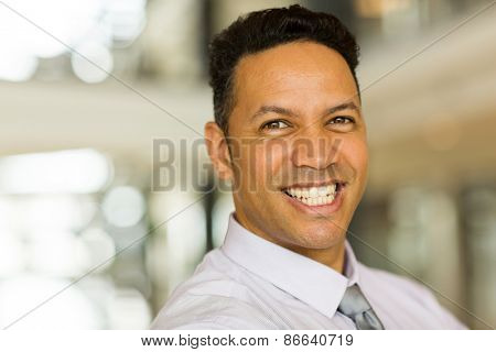 close up portrait of male corporate worker