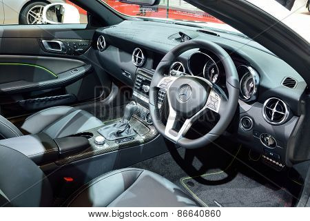 Bangkok - March 26 : Interior Design Of Mercedes Benz Slk 200 Carbon Look On Display At 36Th Bangkok