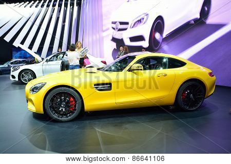 Bangkok - March 26 : Mercedes Benz Amg-gts On Display At 36Th Bangkok International Motor Show On Ma
