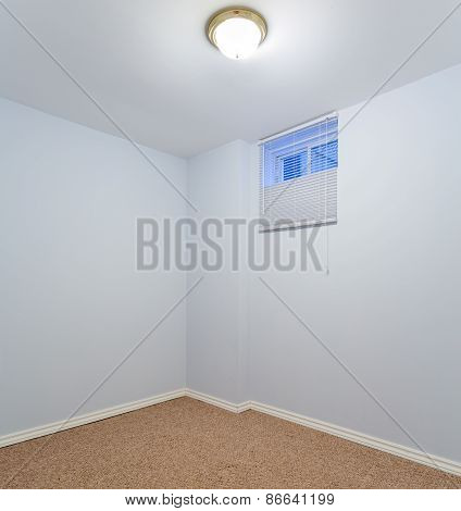 Empty Basement Bedroom Interior Design