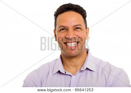 portrait of middle aged business man isolated on white
