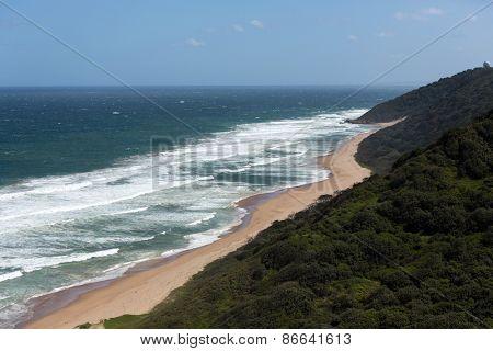 overhead view of Durban south beach