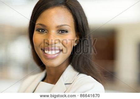 close up portrait of young african american woman