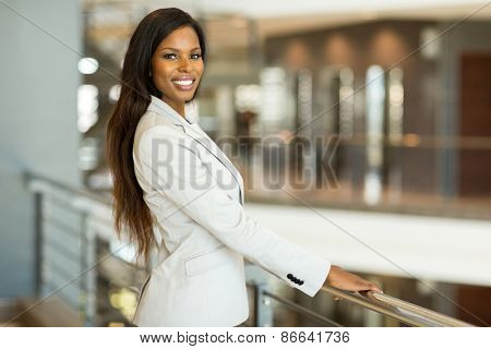 portrait of pretty black business woman