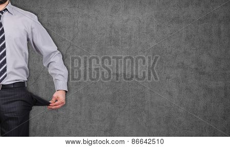 Man With Pockets Turned Inside Out
