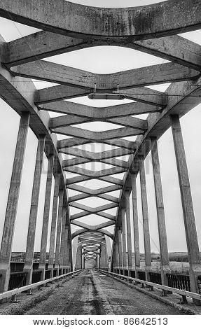 Close up of details of old bridge