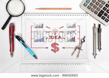 Notepad With Idea Scheme