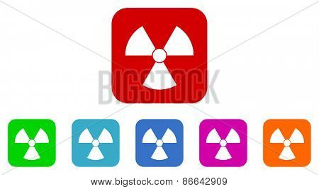 nuclear vector icons set