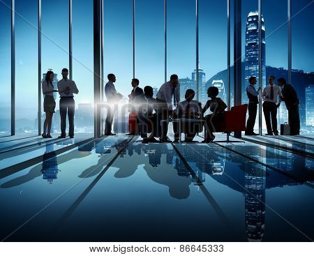 Business People Strategy Success Team Discussion Brainstorming Concept