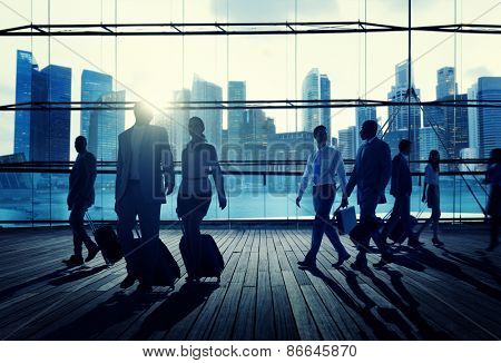 Business Travel Commuter Corporate Cityscape Trip Concept
