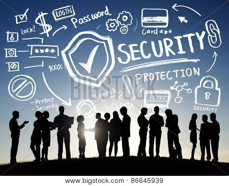 Business People Discussion Security Protection Information Concept