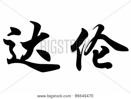 English Name Darren In Chinese Calligraphy Characters
