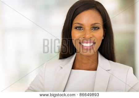 happy young african american office worker
