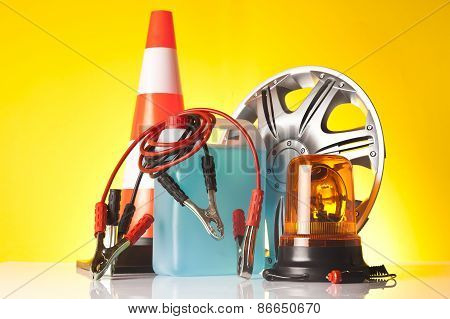 car accessories and road emergency items