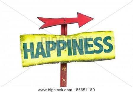 Happiness sign isolated on white