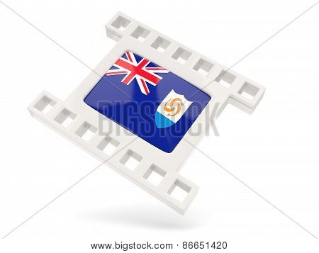 Movie Icon With Flag Of Anguilla