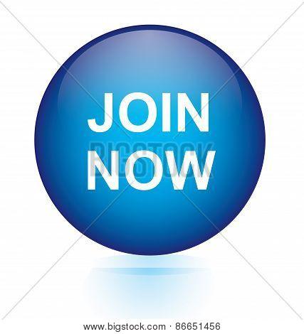 Join now blue circular button