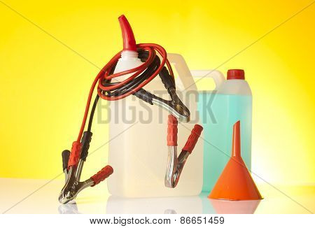 car care accessories including windshield washer fluid