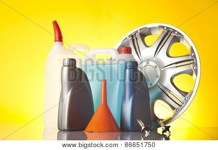 alloy wheel and windshield washer fluids