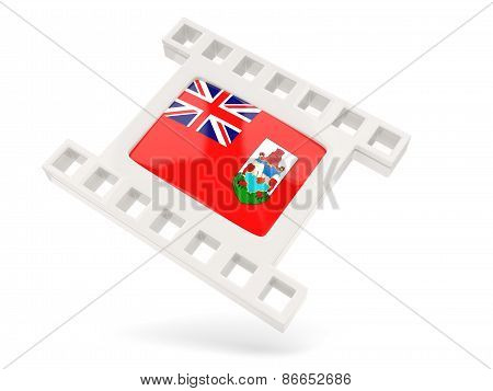 Movie Icon With Flag Of Bermuda